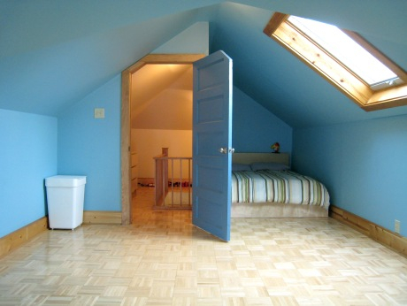 Bed Nook, Skylight and an Angled Door