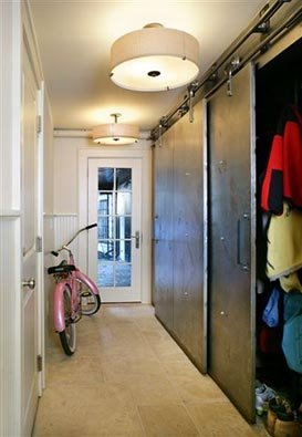 Closet Doors Hung From Tracks