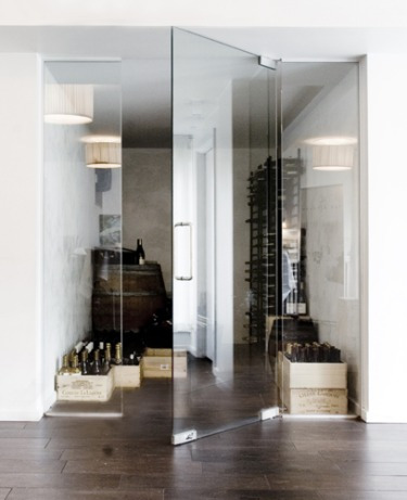 Glass Door Wine Closet