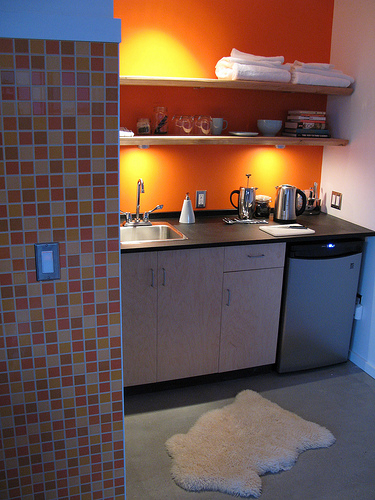 Orange Kitchen Cubby