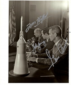 "APOLLO X ""CREW SIGNED"" ORIGINAL NASA PHOTOGRAPH"