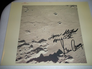 Stafford/Cernan S/P on NASA Serialized Photo #2   54-3