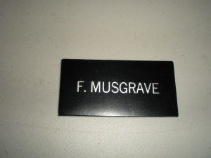 Story Musgrave Suit Name Tag