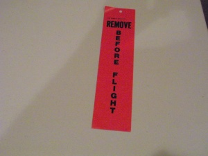 Remove Before Flight Tag - Shuttle Program