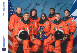 """STS-107 """"Crew Signed"""" NASA Red Stamped Glossy"""