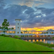 Sunset at Tradition in Port St Lucie by the lake along Tradition Blvd in St Lucie County, FL. HDR image created using Photomatix Pro and Topaz software.
