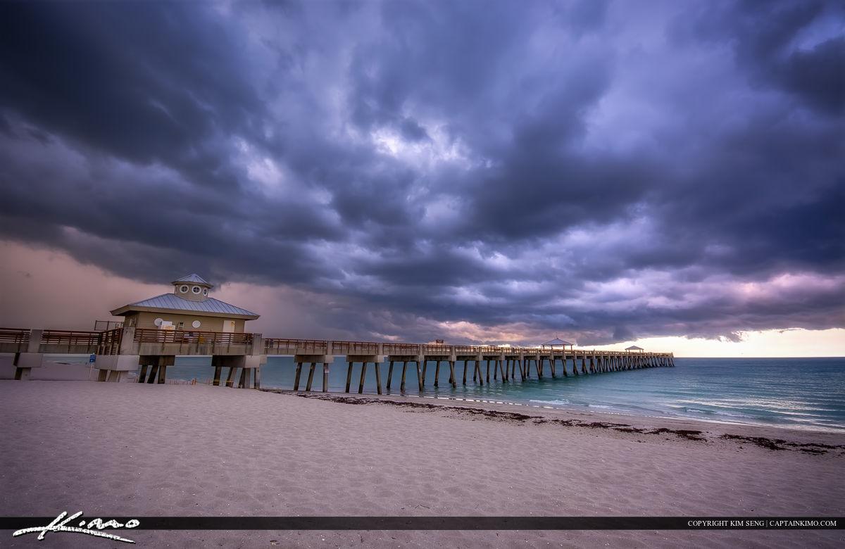 Storm Clouds Over Juno Beach Pier