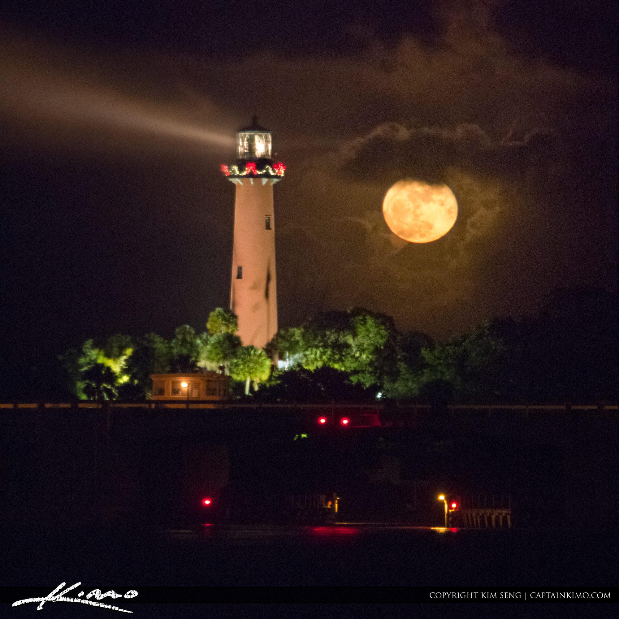 Moon Rise Thanksgiving Day Jupiter Lighthouse
