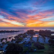 Amazing colors over DuBois Park at the Jupiter Inlet during sunrise over Jupiter Florida. HDR photo merged in Lighroom and tone mapped using Aurora HDR software by Macphun.