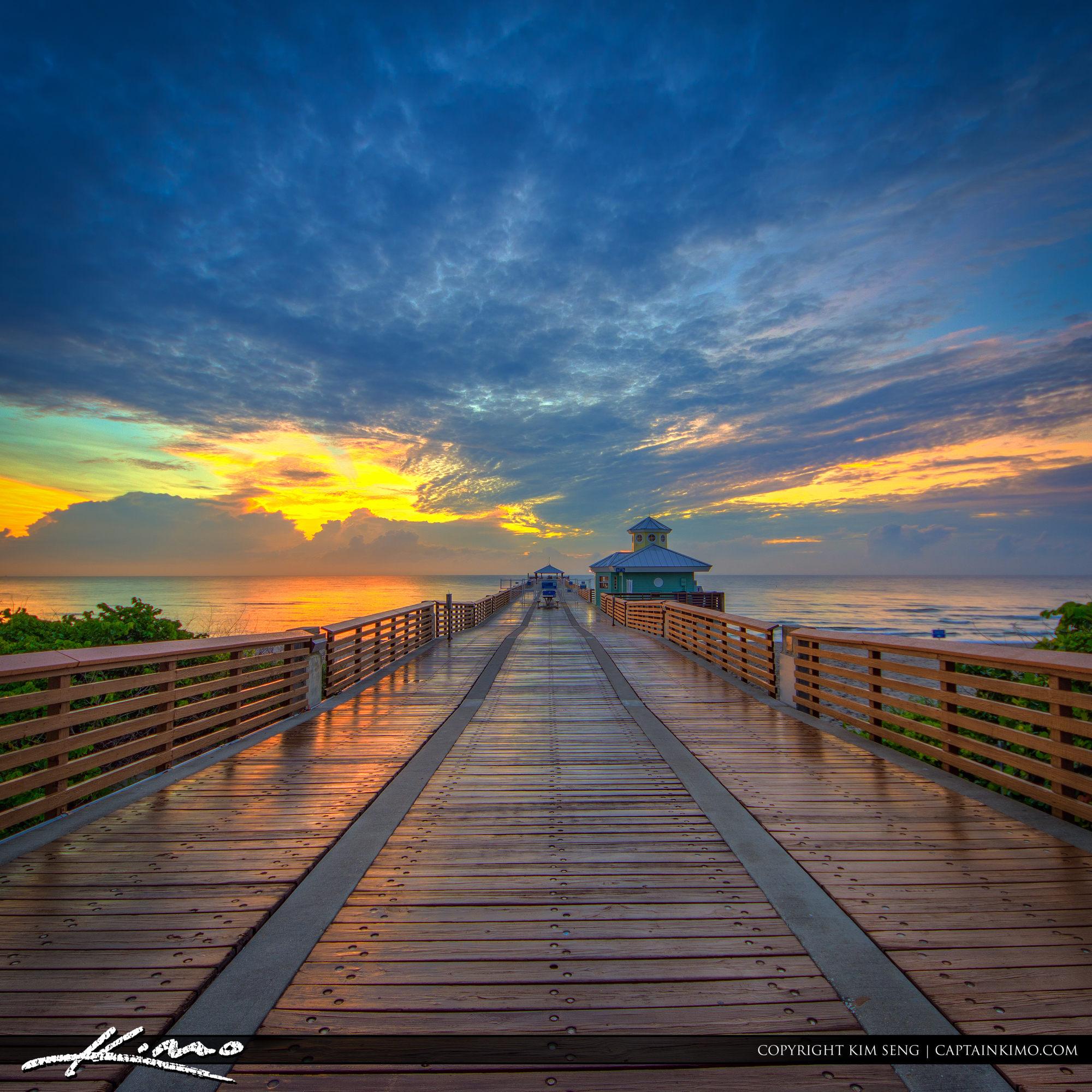 Down the Pier Before Sunrise at Juno Beach
