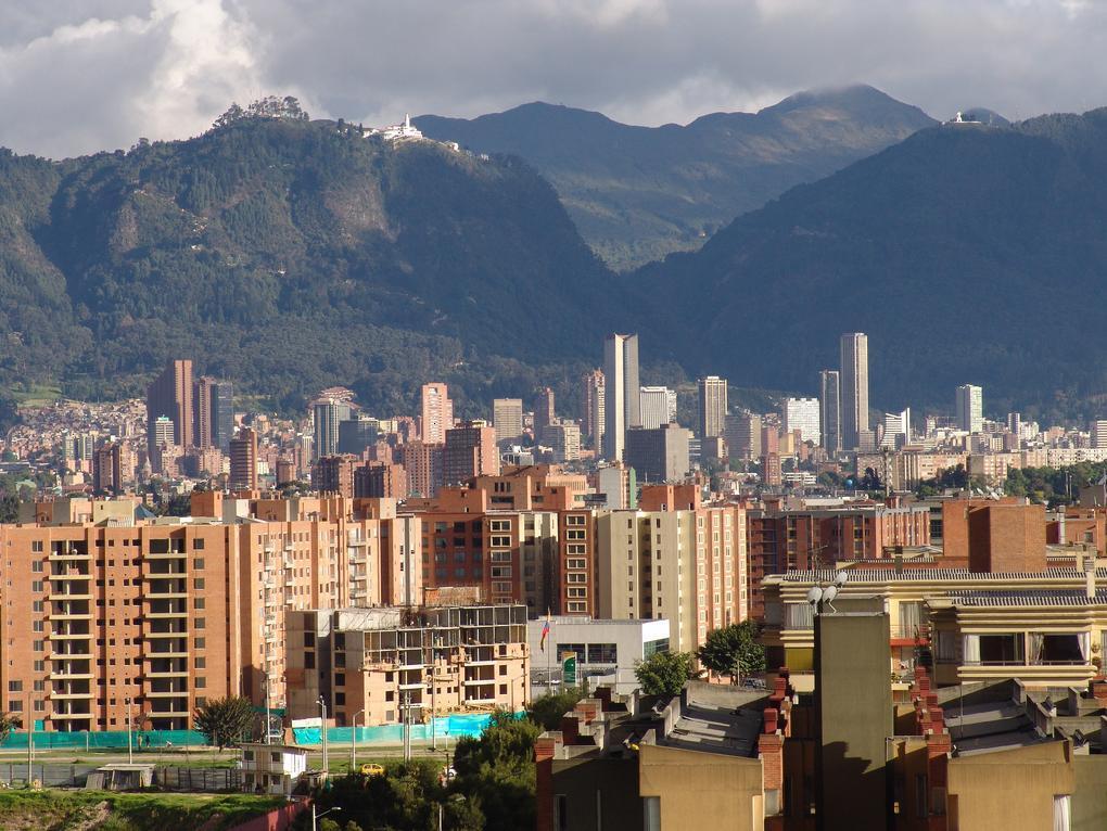 Skyline in Bogota Columbia