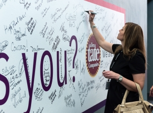 What moves you? Allen Tate agents shared their thoughts on this interactive wall at Momentum.