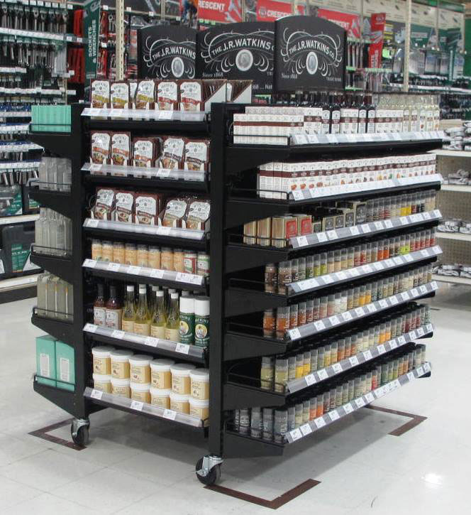 Rolling spice display for shop in shop at major home goods store chain. Gallery   Carlson Store Fixures