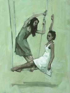 Gwenllian Davies and Krystal Lowe sketch 2