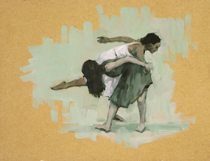 Gwenllian Davies and Krystal Lowe sketch 4