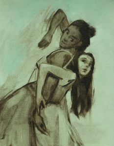 Gwenllian Davies and Krystal Lowe sketch 9
