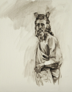 Moses (after Giovanni Pisano) (Well thumbed 13)