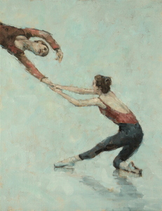 Gwenllian Davies and Anna Pujol (Ballet Cymru rehearsal 46)