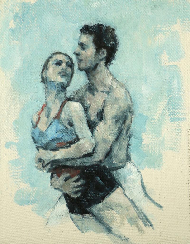 Anna Pujol and Andrea Battaggia (Ballet Cymru rehearsal 48)
