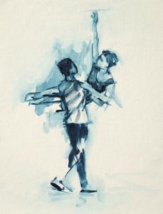 Miles Carrott and Anna Pujol (Ballet Cymru rehearsal 51)