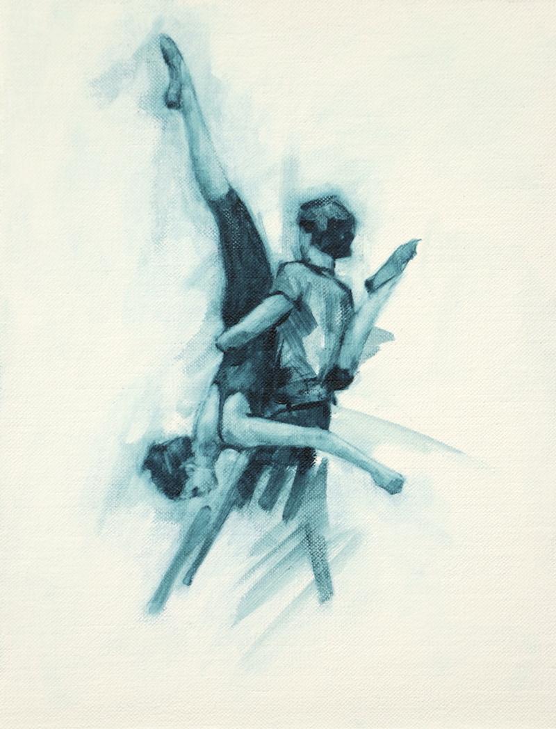Miguel Fernandes and Natalie Debono (Ballet Cymru rehearsal 53)