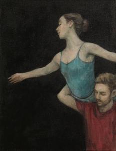 Robbie Moorcroft and Beth Meadway (Ballet Cymru rehearsal 57)