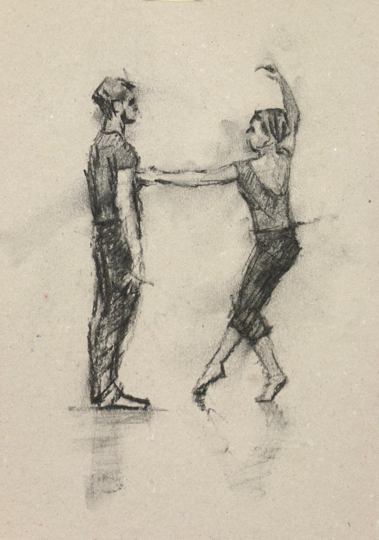 Daniel Morrison and Anna Pujol (Ballet Cymru rehearsal 66)