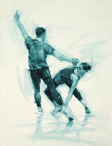 Beth Meadway and Robbie Moorcroft (Ballet Cymru rehearsal 69)