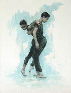 Miles Carrott and Miguel Fernandes (Ballet Cymru rehearsal 84)