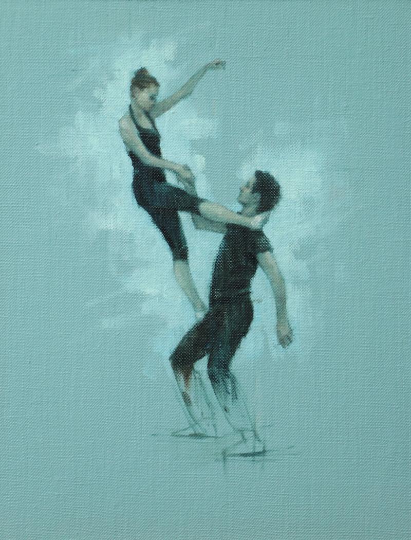 Gwenllian Davies and Andrea Battaggia (Ballet Cymru rehearsal 85)