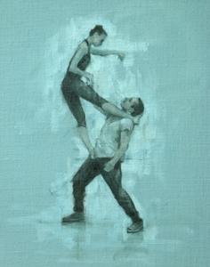 Gwenllian Davies and Tim Podesta Battaggia (Ballet Cymru rehearsal 90)