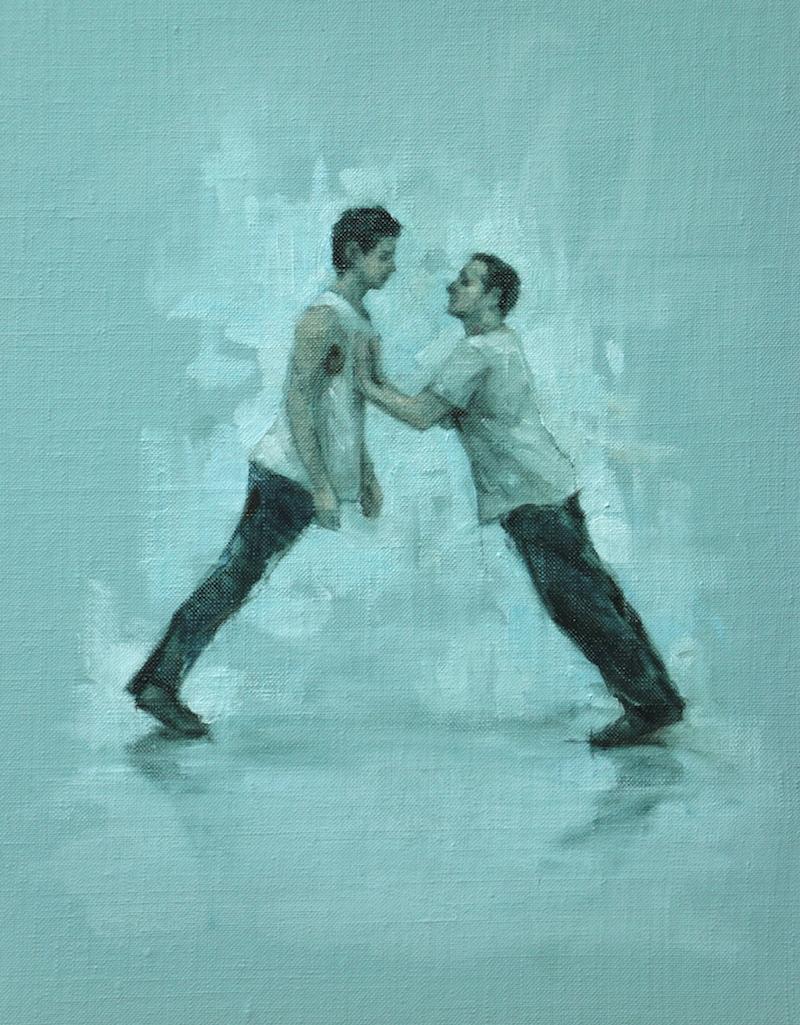 Andrea Battaggia and Tim Podesta (Ballet Cymru rehearsal 91)