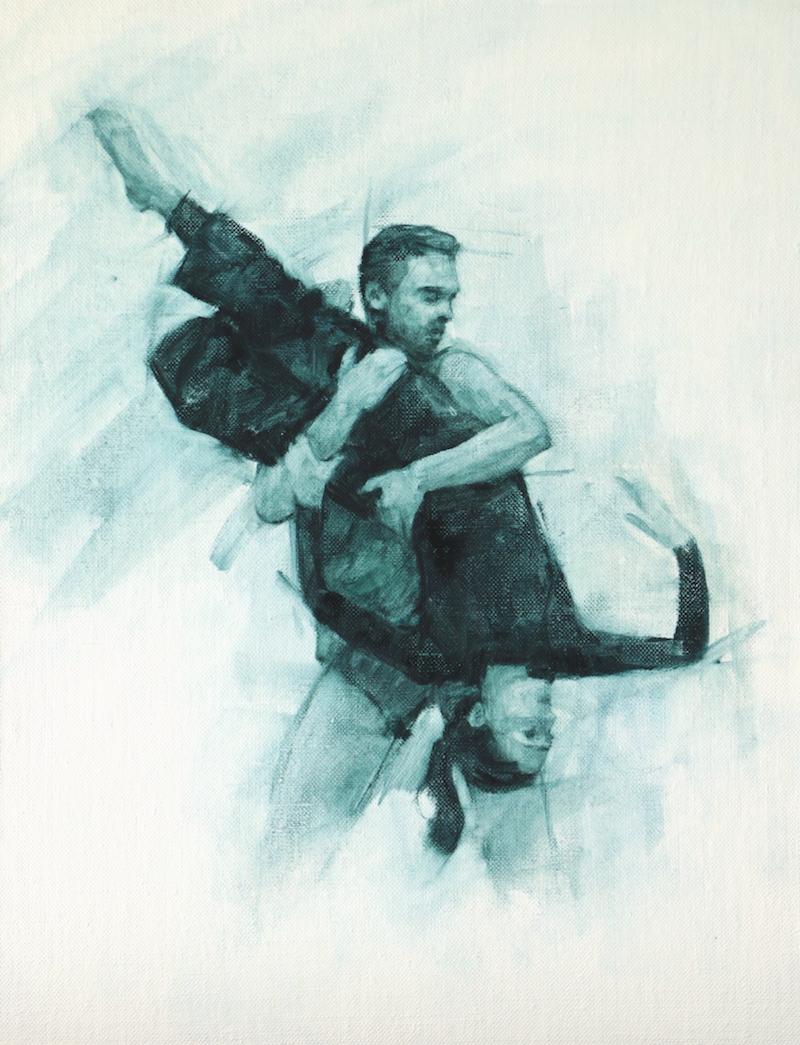 Robbie Moorcroft and Mara Galeazzi (Ballet Cymru rehearsal 99)