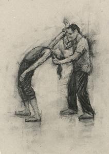 Natalie Debono and Tim Podesta (Ballet Cymru rehearsal 109)