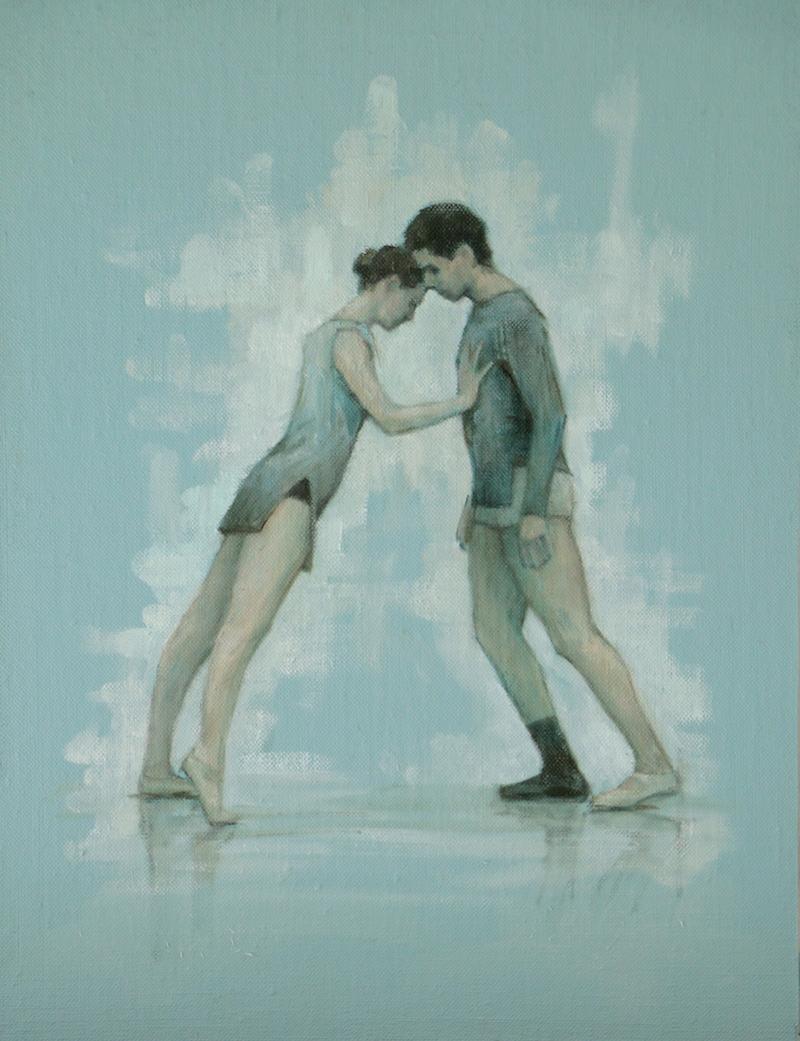 Beth Meadway and Andrea Battaggia (Ballet Cymru rehearsal 121)