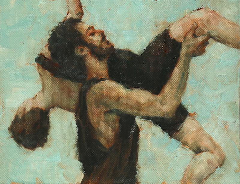 Beau Dillen and Renan Manhães (Ballet Cymru rehearsal 130)