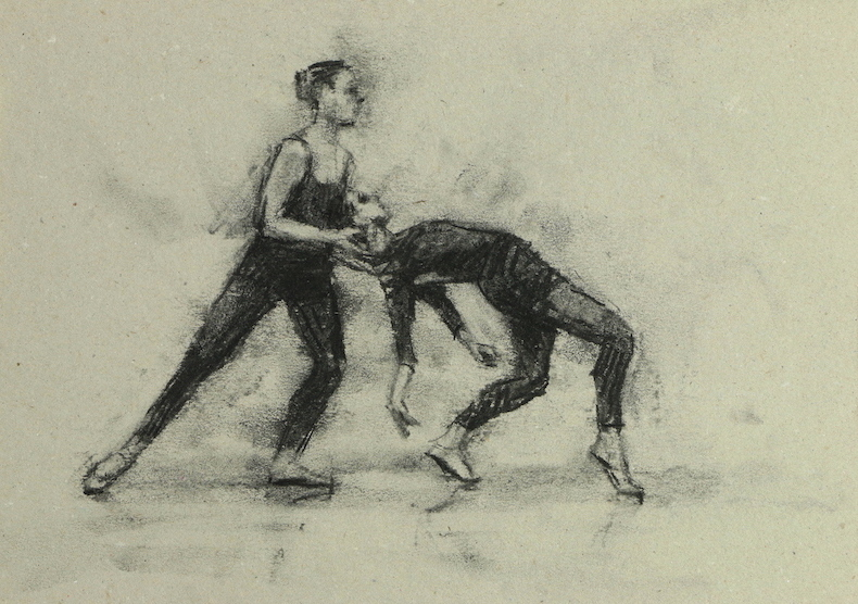 Colleen Grace and Natalia Maria Cîmpeanu (Ballet Cymru rehearsal 138)