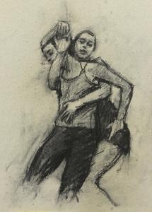 Michaela Skuce and Beau Dillen (Ballet Cymru rehearsal 139)