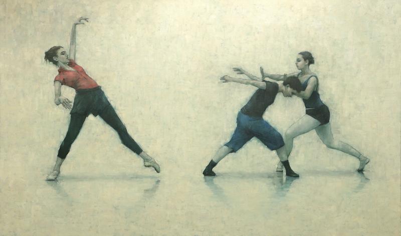 Ann Louise Wall, Giulia Rossi and Colleen Grace (Ballet Cymru rehearsal 149, EX SITU)