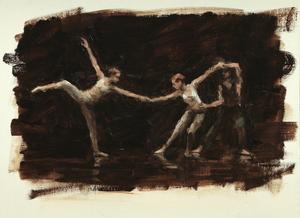 Beau Dillen, Anais Gentjens and Renan Manhães (Ballet Cymru rehearsal 151)