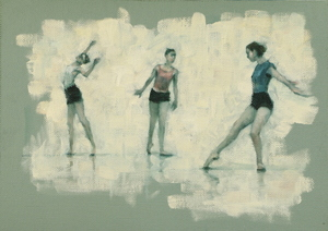 Ann Louise Wall, Colleen Grace and Naomi Stientstra (Ballet Cymru rehearsal 157)