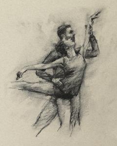 Robbie Moorcroft and Gwen Davies (Ballet Cymru rehearsal 173)