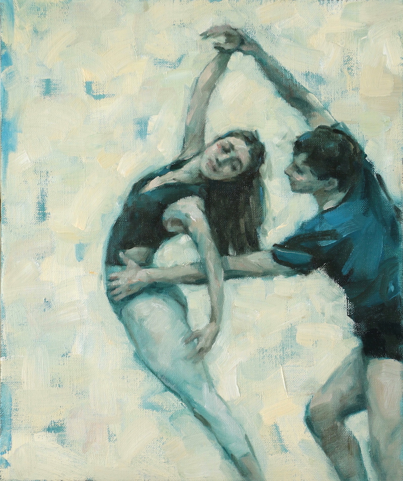 Maria Brunello and Joshua Feist (Ballet Cymru rehearsal 175)