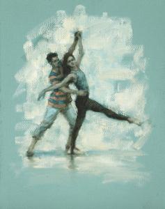 Andrea Battaggia and Danila Marzilli (Ballet Cymru rehearsal 177)
