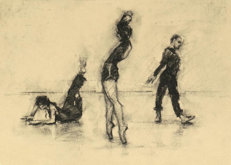Ailysh Healy, Romy Adair and Erin Atkinson (Ballet Cymru rehearsal 190)