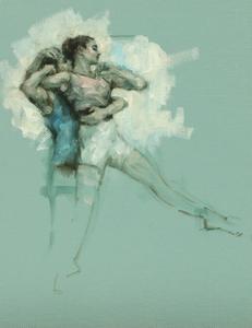 Joshua Feist and Maria Brunello (Ballet Cymru rehearsal 178)