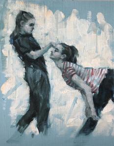 Peri Gulen and Amy Becke (Ballet Cymru rehearsal 192)