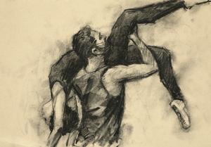 Robbie Moorcroft and Beau Dillen (Ballet Cymru rehearsal 193)