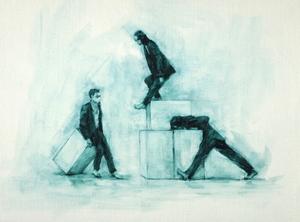 Joshua Feist, Maria Brunello and Danila Marzilli (Ballet Cymru rehearsal 197)