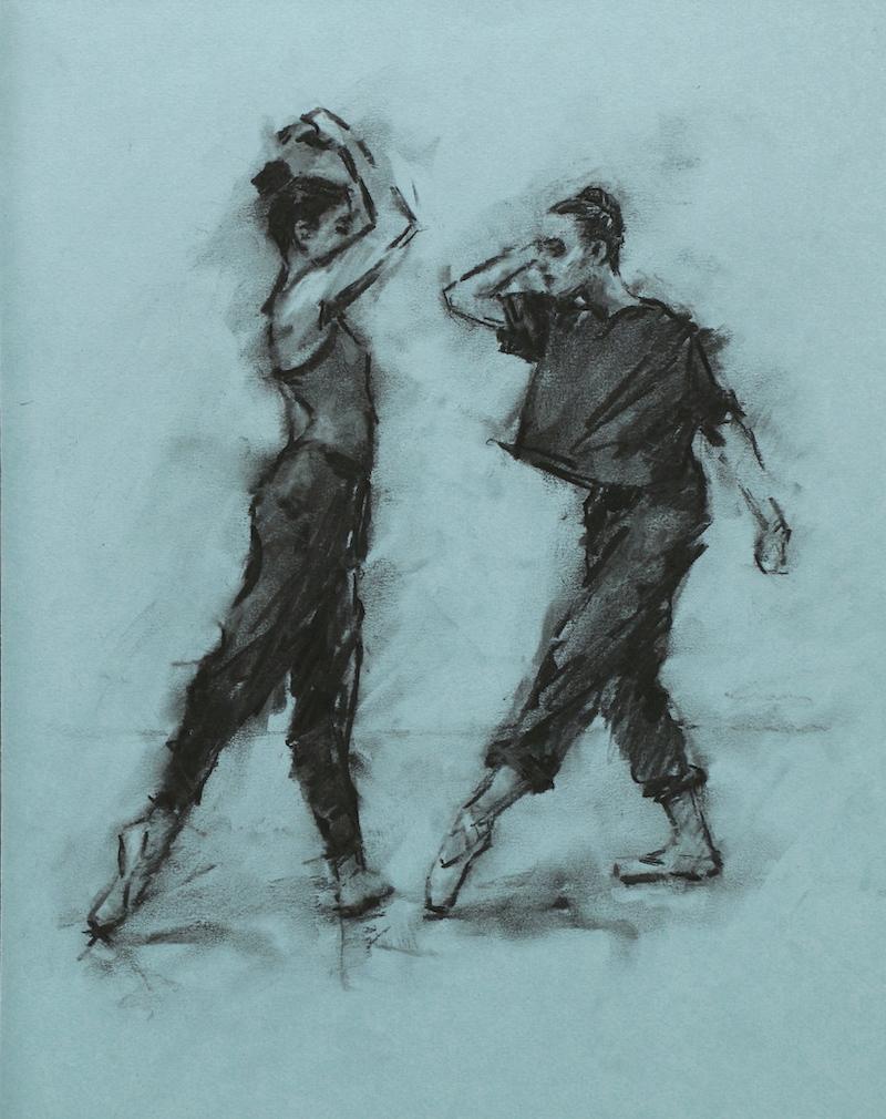 Nina Kramberger and Romy Adair (Ballet Cymru rehearsal 212)